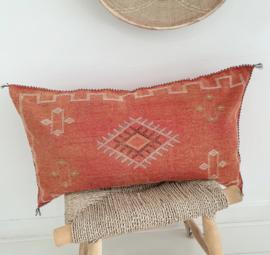 Sabra silk kussen Terracotta