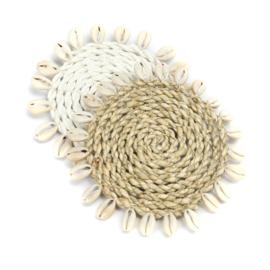 Seagrass Shell onderzetter Naturel