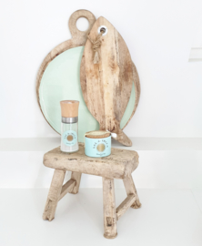 Old wooden mini stool 1