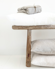 Linen cushion Pure White rectangular