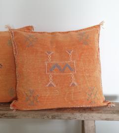 Sabra silk kussen Orange  -3-