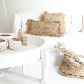 Raffia cushion square