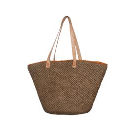 Julie bag Tea met Oranje detail Made in Mada