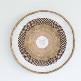 Tonga basket Gold striped L 10