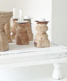 Old wooden candleholder