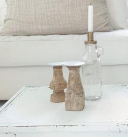 Glass bottle candle holder