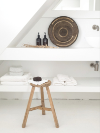 Old wooden round stool 1