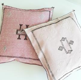 Sabra silk kussen Pink 2
