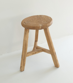 Old round wooden stool 6
