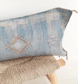Sabra  Silk kussen XL Blue