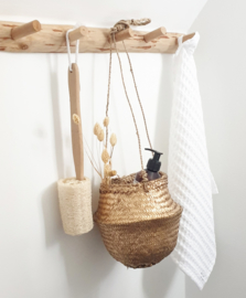 Seagrass hanging basket Gold