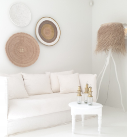 Moroccan white side table
