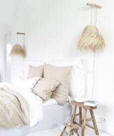 Linnen dekbedovertrek Belle in Duo Tone Natural/White