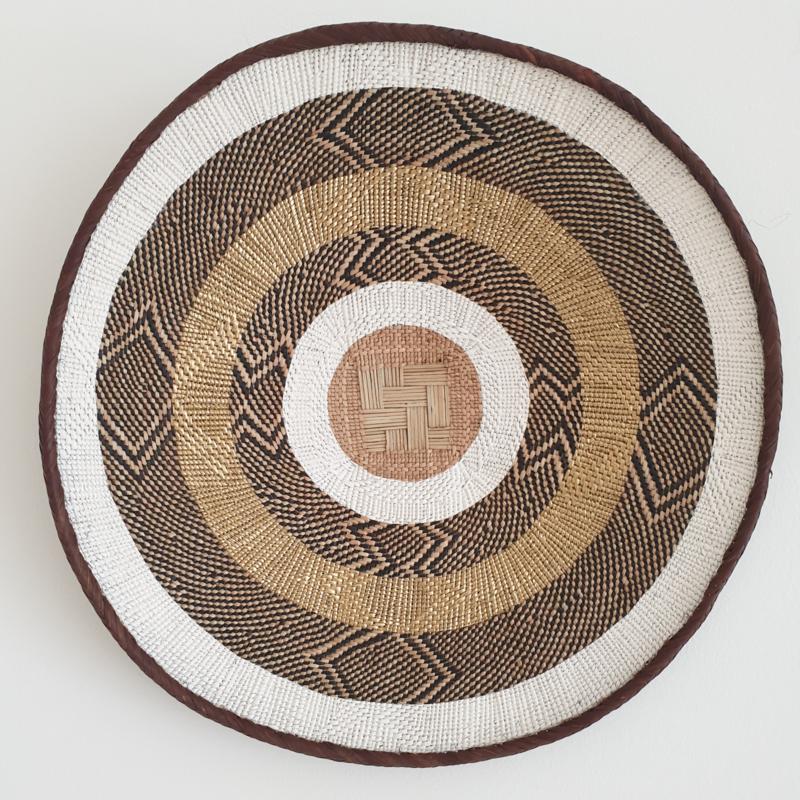 Tonga basket Gold striped L 8