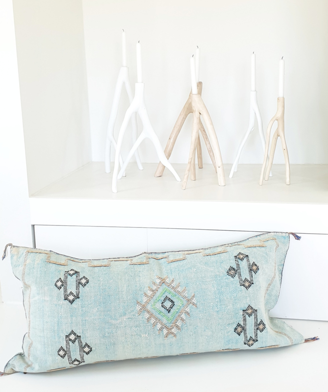 Sabra Silk Xl cushion cover Aqua Blue