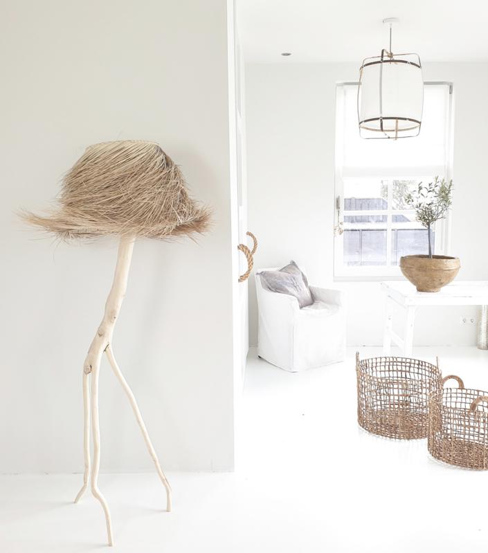 Rock the Kasbah  palmleaf staande lamp naturel