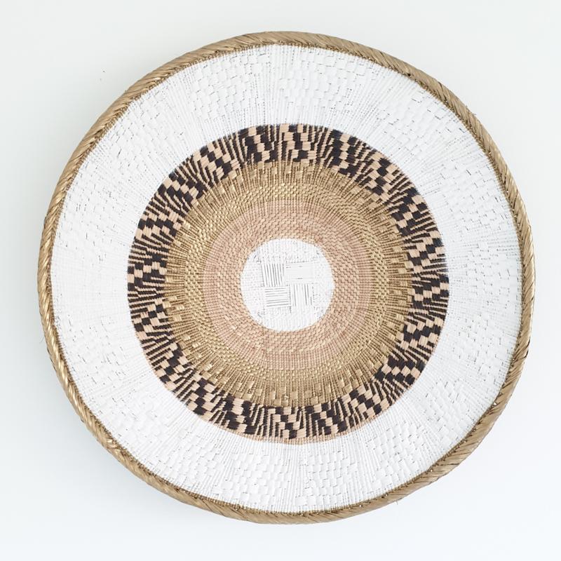 Tonga basket Gold striped L 3