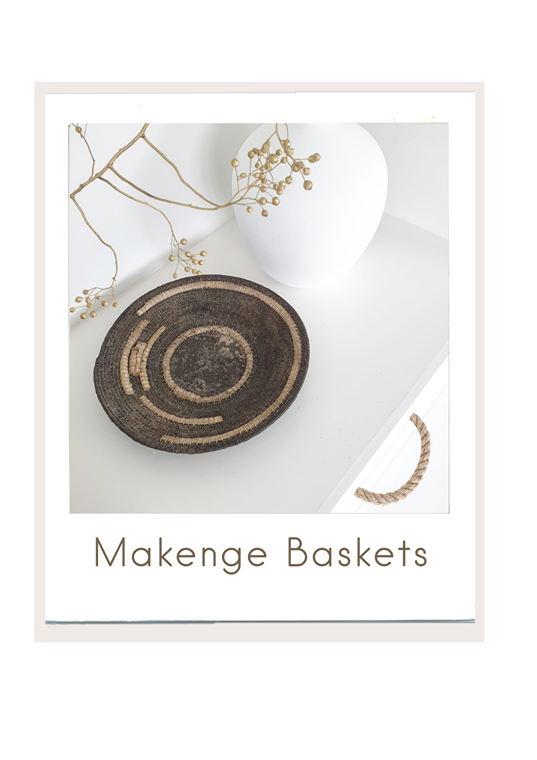 Afrikaanse Vintage Makenge Baskets uit Zambia, bybliss.nl