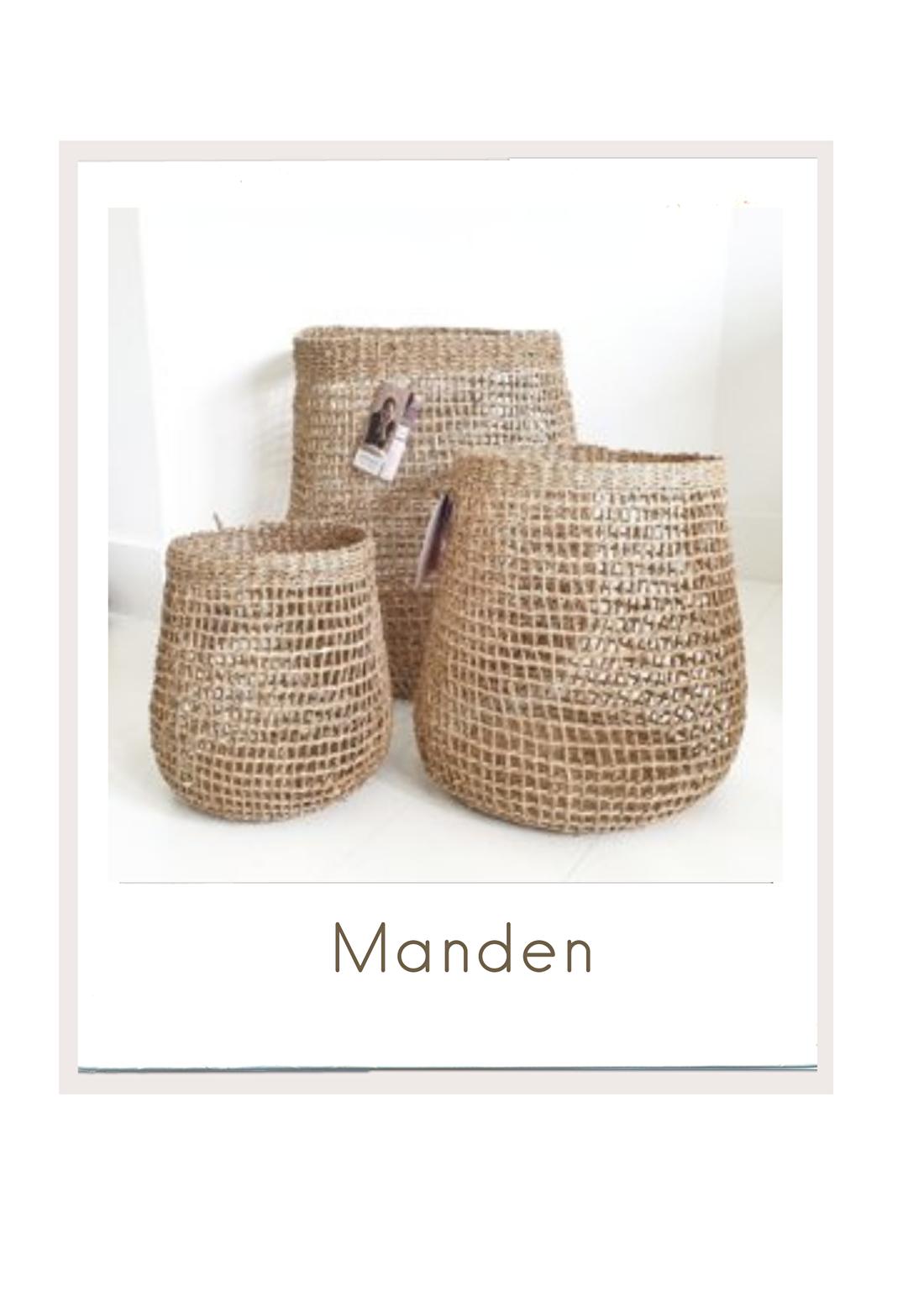 Diverse manden oa van zeegras verkrijgbaar bij bybliss.nl