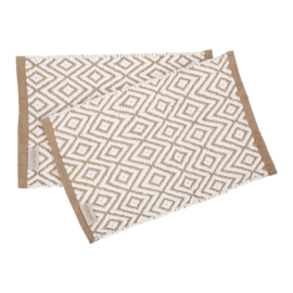 Placemats naturel/wit