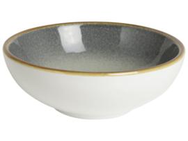 Schaaltje grijs/wit  Ø9cm
