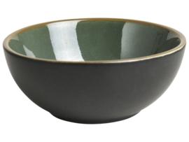 Schaaltje groen/zwart  Ø12 cm