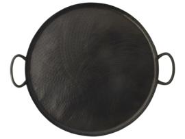 Metalen serveer-decoplateau rond