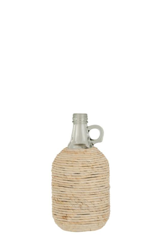 Fles met handvat en bedekt