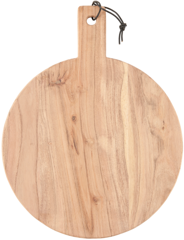 Chopping board round acacia