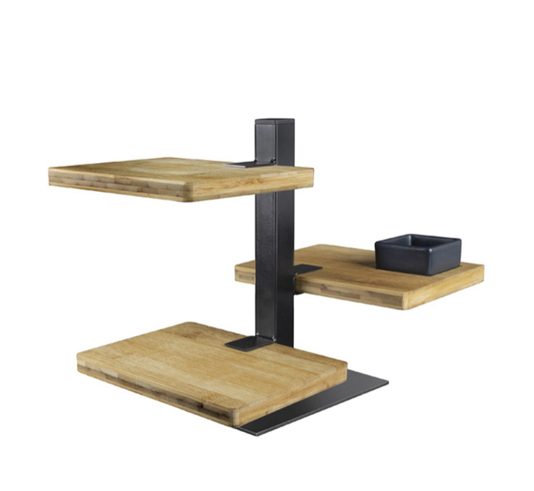 Serveertoren - 3 bamboe planken