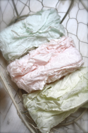 Hand dyed 100% Silk Ribbons (set of three)