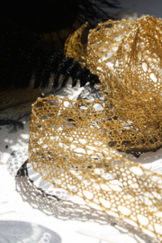 Set of gold and silver Metallic Lurex Lace.