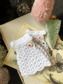 Tiny crochet dress for the littlest bear friends.