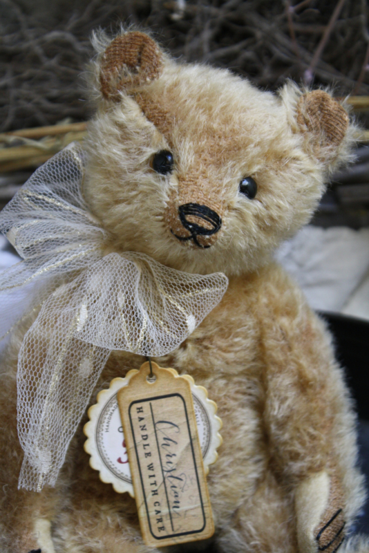 """🍁Hug Me Again Collectible bear """"Christian"""" standing about 8.5 inch tall."""