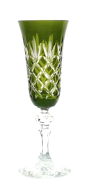 EWA champagne flute - olive green