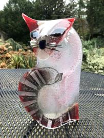 KAT 13 -  zittend laag-  roze/rood
