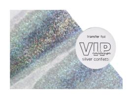 Transfer folie silver confetti