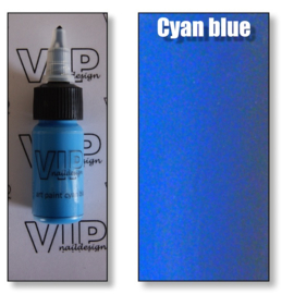 Art paint cyan blue