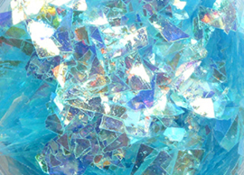 Mylar aqua blue