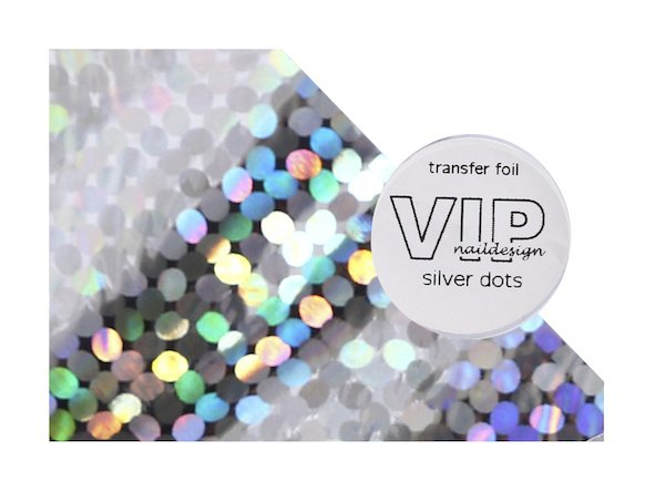 Transfer folie silver dots