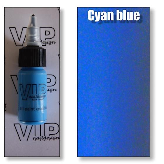 Art paint cyan blue