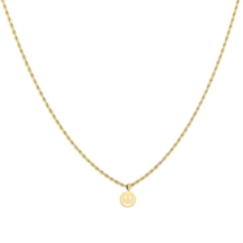 TWISTED KETTING SMILEY - GOUD