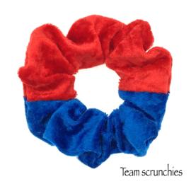 Team scrunchie Rood/Kobaltblauw