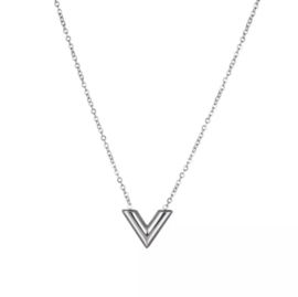 KETTING FAMOUS V - ZILVER