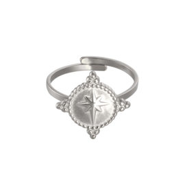 RING AMULET STAR - ZILVER