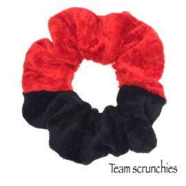 Team scrunchie Rood/Zwart