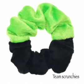 Team scrunchie Lichtgroen/Zwart