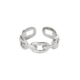 RING OVAL CHAIN - ZILVER