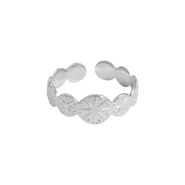 RING CHARMING STARS - ZILVER