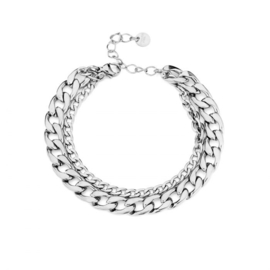CHAIN ARMBAND - ZILVER